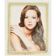 Rosdorf Park Brown Silk Picture Frame; Silver
