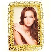 Rosdorf Park Antique-inspired Silk Back Metal Design Picture Frame; Gold