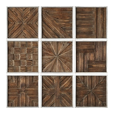 Union Rustic Rustic Wooden Square Wall D cor