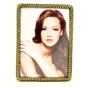 World Menagerie Solid Pewter Picture Frame; Brass