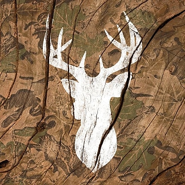 East Urban Home 'Camouflage Deer' Graphic Art on Wrapped Canvas; 26'' H x 26'' W x 0.75'' D