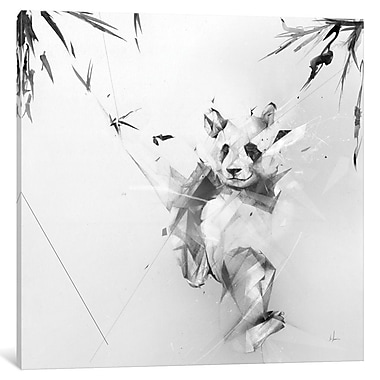 East Urban Home 'Panda' Graphic Art on Wrapped Canvas; 12'' H x 12'' W x 1.5'' D