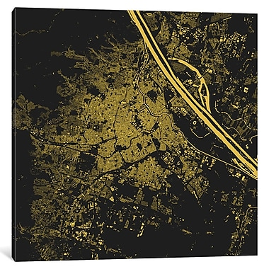 East Urban Home 'Vienna' Graphic Art on Wrapped Canvas; 37'' H x 37'' W x 1.5'' D