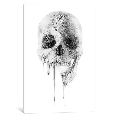 East Urban Home 'Crystal Skull' Graphic Art on Wrapped Canvas; 18'' H x 12'' W x 1.5'' D