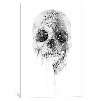 East Urban Home 'Crystal Skull' Graphic Art on Wrapped Canvas; 26'' H x 18'' W x 0.75'' D