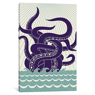 East Urban Home 'Sea Monster' Graphic Art on Wrapped Canvas; 40'' H x 26'' W x 1.5'' D