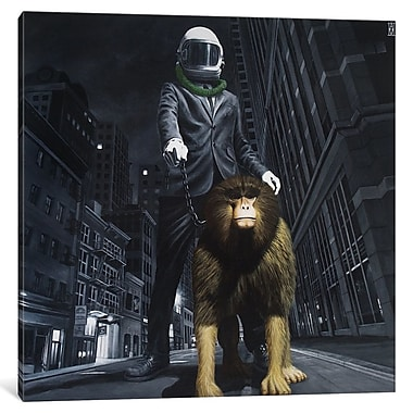 East Urban Home 'New World Monkey' Graphic Art on Wrapped Canvas; 37'' H x 37'' W x 1.5'' D