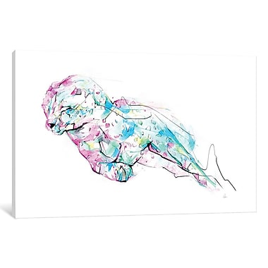 East Urban Home 'Chetah' Graphic Art on Wrapped Canvas; 18'' H x 26'' W x 0.75'' D