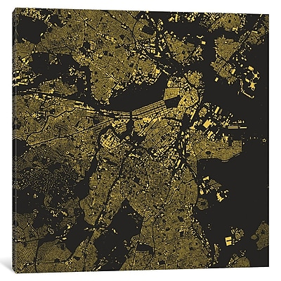 East Urban Home 'Boston' Square Graphic Art on Wrapped Canvas; 12'' H x 12'' W x 0.75'' D
