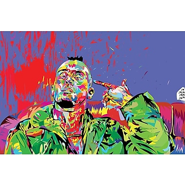 East Urban Home 'Taxi Driver' Graphic Art on Wrapped Canvas; 40'' H x 60'' W x 1.5'' D