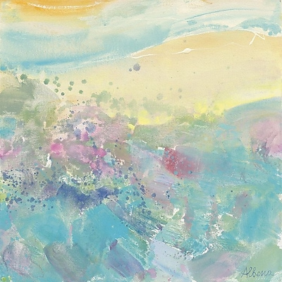 East Urban Home 'Sweet Meadow' Painting Print on Wrapped Canvas; 18'' H x 18'' W x 0.75'' D