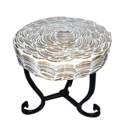 Bloomsbury Market Fanette Round Mosaic Side Table; 9.25'' L x 9.25'' W