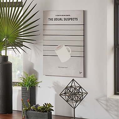 East Urban Home 'The Usual Suspects Minimal Movie Poster' Vintage Advertisement on Wrapped Canvas