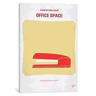 East Urban Home 'Office Space Minimal Movie Poster' Vintage Advertisement on Wrapped Canvas