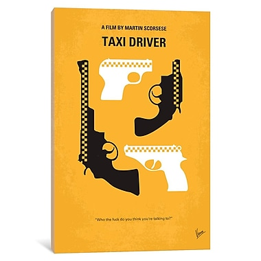East Urban Home 'Taxi Driver Minimal Movie Poster' Vintage Advertisement on Wrapped Canvas