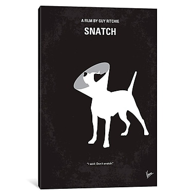 East Urban Home 'Snatch Minimal Movie Poster' Vintage Advertisement on Wrapped Canvas