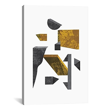 East Urban Home 'Volumetric' Graphic Art on Wrapped Canvas; 26'' H x 18'' W x 1.5'' D