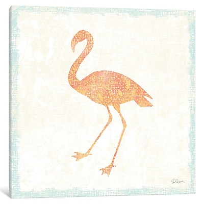 East Urban Home Flamingo Tropicale VI Graphic Art on Wrapped Canvas; 12'' H x 12'' W x 0.75'' D