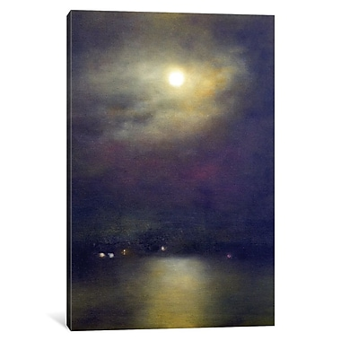 East Urban Home 'Valentine Moon' Painting Print on Wrapped Canvas; 18'' H x 12'' W x 0.75'' D