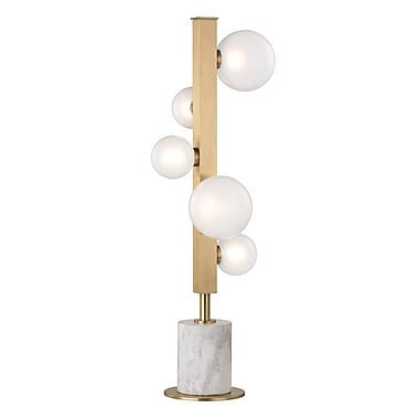 Willa Arlo Interiors Diannah 26.75'' Table Lamp; Aged Brass