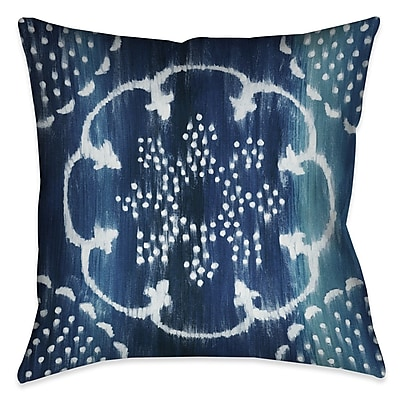Bloomsbury Market Branch Square Outdoor Throw Pillow