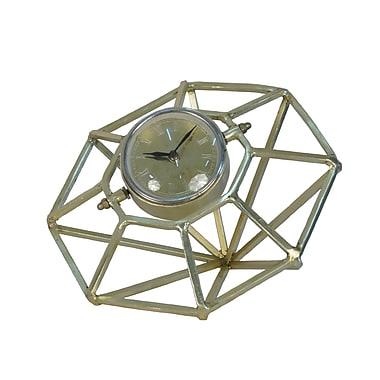 Brayden Studio 8'' Metal Table Clock