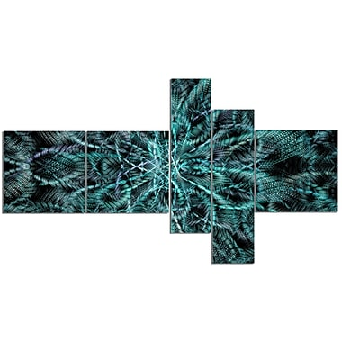 East Urban Home 'Unusual Starry Fractal Metal Grill' Graphic Art Print Multi-Piece Image on Canvas