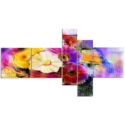 East Urban Home 'Bunch of Colored Daisy Flowers' Print Multi-Piece Image on Canvas