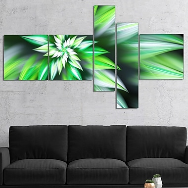 East Urban Home 'Dance of Green Exotic Flower' Graphic Art Print Multi-Piece Image on Canvas