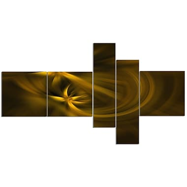 East Urban Home 'Play of Golden Stars' Graphic Art Print Multi-Piece Image on Canvas