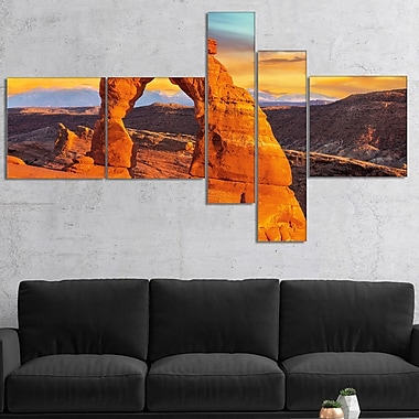 East Urban Home 'Delicate Arch in Arches Park' Photographic Print Multi-Piece Image on Canvas