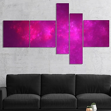 East Urban Home 'Bright Pink Starry Fractal Sky' Print Multi-Piece Image on Canvas