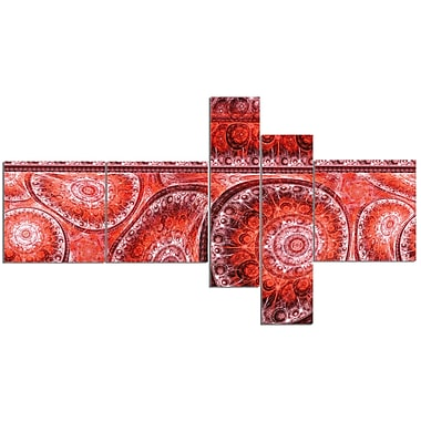 East Urban Home 'Red Living Cells Fractal Design' Graphic Art Print Multi-Piece Image on Canvas