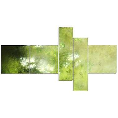 East Urban Home 'Blur Green Sky w/ Stars' Print Multi-Piece Image on Canvas