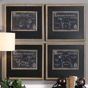 Gracie Oaks 'Canis Lupus Familiaris' 4 Piece Framed Graphic Art Print Set (Set of 4)