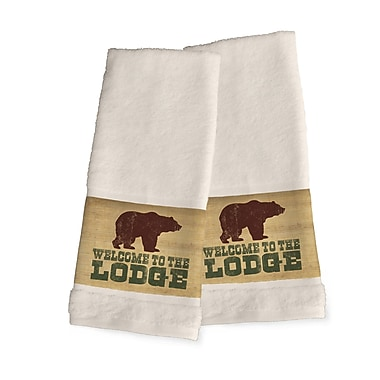 Loon Peak Welcome to the Lodge Hand Towel (Set of 2)