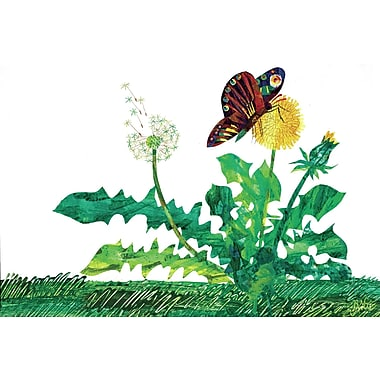 Marmont Hill 'Butterfly Dandelion' by Eric Carle Painting Print on Wrapped Canvas; 20'' H x 30'' W