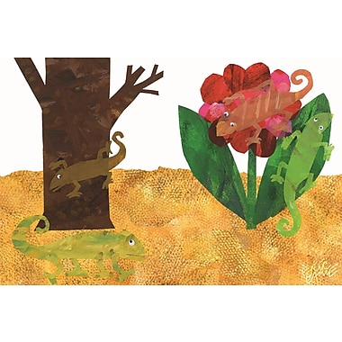 'The Mixed-Up Chameleon Character Art Tree Flower' by Eric Carle Painting Print on Wrapped Canvas