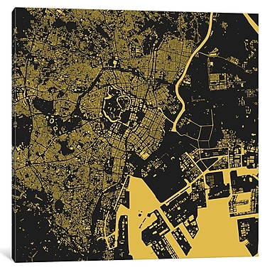 East Urban Home 'Tokyo' Rectangle Graphic Art on Wrapped Canvas; 18'' H x 18'' W x 1.5'' D