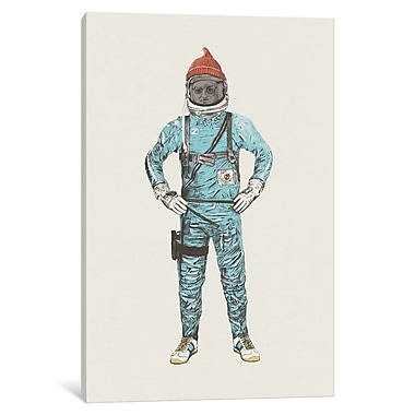 East Urban Home 'Zissou in Space' Painting Print on Wrapped Canvas; 18'' H x 12'' W x 1.5'' D