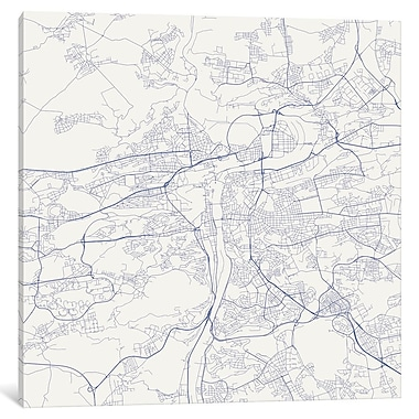 East Urban Home 'Prague Roadway' Graphic Art on Wrapped Canvas; 26'' H x 26'' W x 1.5'' D