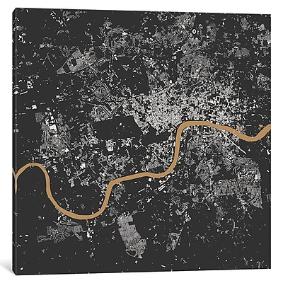 East Urban Home 'London' Square Graphic Art on Wrapped Canvas; 12'' H x 12'' W x 1.5'' D