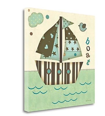 Tangletown Fine Art 'Boat East' Graphic Art Print on Canvas; 20'' H x 20'' W
