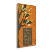 Tangletown Fine Art 'Autumn Tree Chalkboard' Textual Art on Canvas; 28'' H x 17'' W