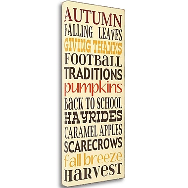 Tangletown Fine Art 'Autumn Harvest' Textual Art on Canvas; 29'' H x 14'' W