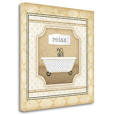 Tangletown Fine Art 'Tub - Relax' Graphic Art Print on Wrapped Canvas; 20'' H x 20'' W