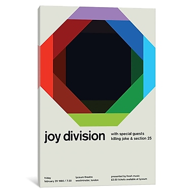 East Urban Home 'Joy Division at Lyceum Theatre February 29th, 1980' Textual Art on Wrapped Canvas