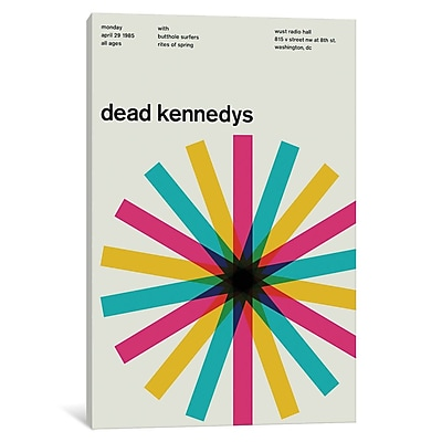 East Urban Home 'Dead Kennedys at Wust Radio Hall April 29th, 1985' Textual Art on Wrapped Canvas