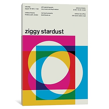 East Urban Home 'Ziggy Stardust at Rainbow Theatre August 19th, 1972' Textual Art on Wrapped Canvas