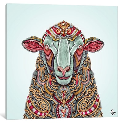 East Urban Home 'Sheep' Graphic Art on Wrapped Canvas; 26'' H x 26'' W x 1.5'' D